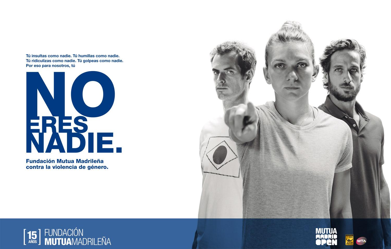 La Fundación Mutua Madrileña promueve campaña contra la violencia de género de la mano de tenistas famosos